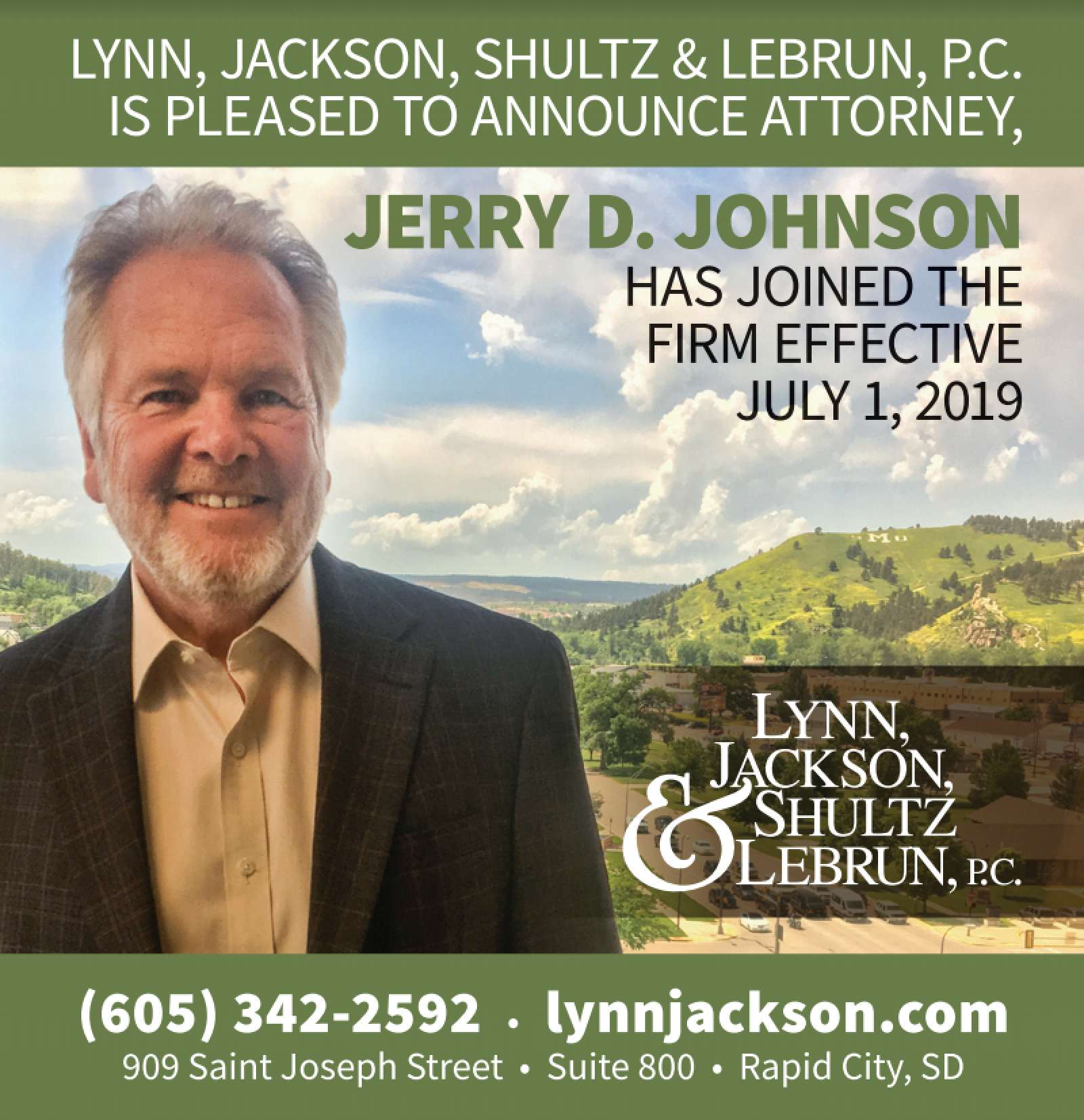 Jerry D. Johnson to join Lynn Jackson